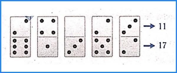 situaciones lógicas con dominó